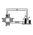 computer motherboard circuit statistics fintech vector image vector image