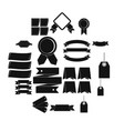 different colorful labels icons set simple style vector image