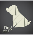 dogs are abstract origami vector image