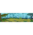 edge tropical jungle cartoon panorama vector image