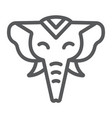 elephant line icon zoo and wildlife african vector image vector image