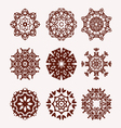 ethnic mandalas decorative elements vector image vector image