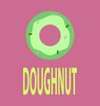 flat icon donut logo vector image vector image
