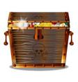 full pirates treasure chest vector image