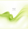 green abstract wave background wave flow vector image vector image