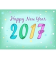 Happy New Year 2017 Watercolor symbols vector image vector image