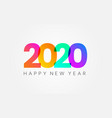 happy new year 2020 holiday banner on white vector image