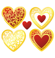 heart floral golden vector image vector image