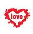 heart logo vector image vector image