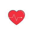 heartbeat solid icon cardio graphics vector image vector image