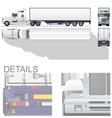 hi-detailed commercial semi-truck vector image vector image