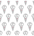 ice cream easy pattern linear-15 vector image