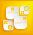 infographic web business concept vector image vector image
