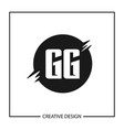 initial gg letter logo template design vector image