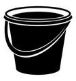 iron bucket icon simple style vector image vector image