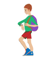 kid with watch vector image