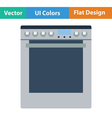 Kitchen main stove unit icon vector image vector image