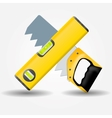 Level and saw icon vector image vector image