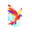 logo a flying bird logo isolated on white vector image