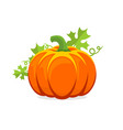 logo and a pumpkin symbol for thanksgiving vector image vector image