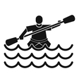Male athlete in a canoe icon simple style vector image vector image