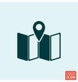 Map location icon vector image
