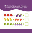Mathematical game for kids count sum and write