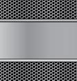 metal texture on hex stan vector image vector image