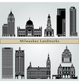 Milwaukee landmarks and monuments vector image vector image