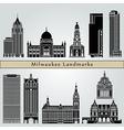 milwaukee landmarks and monuments vector image