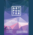 modern art poster template vector image vector image