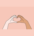 multi ethnic and multicultural love concept vector image