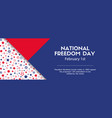 national freedom day banner facebook cover size vector image vector image
