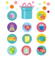 Open and closed box icons vector image