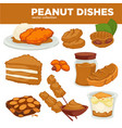 peanut nut dishes food drink and dessert vector image vector image