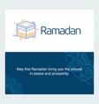ramadan kareem background calligraphy greeting vector image vector image