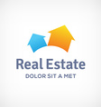 Real estate logo icon design template with houses vector image vector image