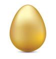 realistic golden egg on white for ester festival vector image