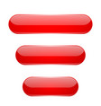 red oval buttons 3d glass menu icons vector image vector image