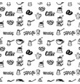 seamless pattern with coffee design elements for vector image vector image