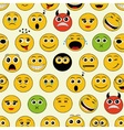 seamless pattern with emoticons vector image vector image