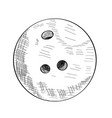 sketch of a bowling ball vector image vector image