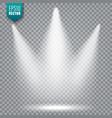 spotlight bright light beam transparent vector image vector image