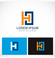 square letter h company logo vector image vector image