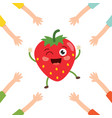 strawberry character vector image