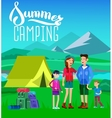 summer landscape Morning landscape in the vector image vector image