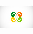 swirl colored logo vector image vector image