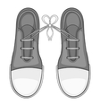 Tied laces on shoes icon gray monochrome style vector image vector image
