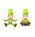 two leprechauns vector image vector image