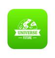 universe future icon green vector image vector image